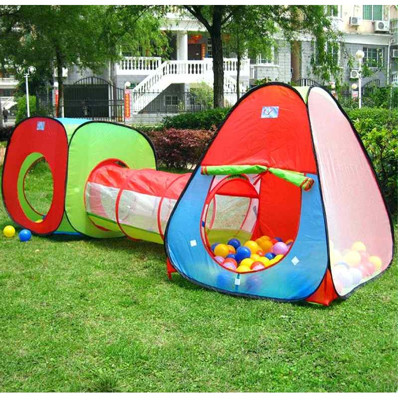 Детская двойная палатка с туннелем (арт. M2958)