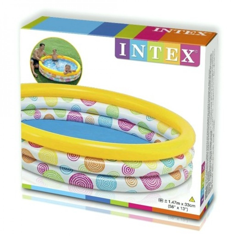 Детский надувной бассейн «Геометрия» (Intex 58449)