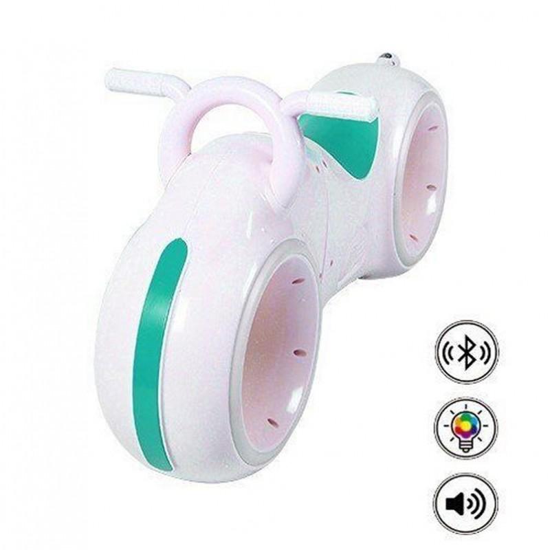 Беговел - Космо-Байк с динамиками, Bluetooth и LED-подсветкой, White/Green (Tilly GS-0020)