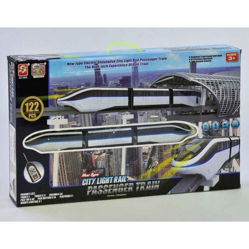 Железная дорога Монорельс на р/у, 122 дет (Small Toys 3065)
