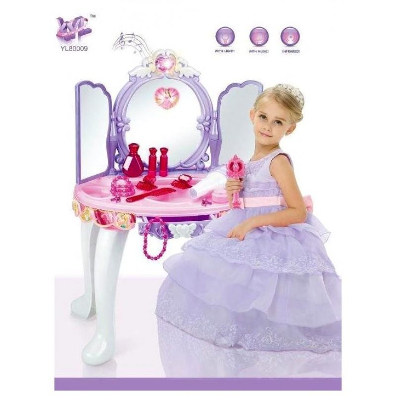 Детский туалетный столик - трюмо со стульчиком (арт. YL80009B)