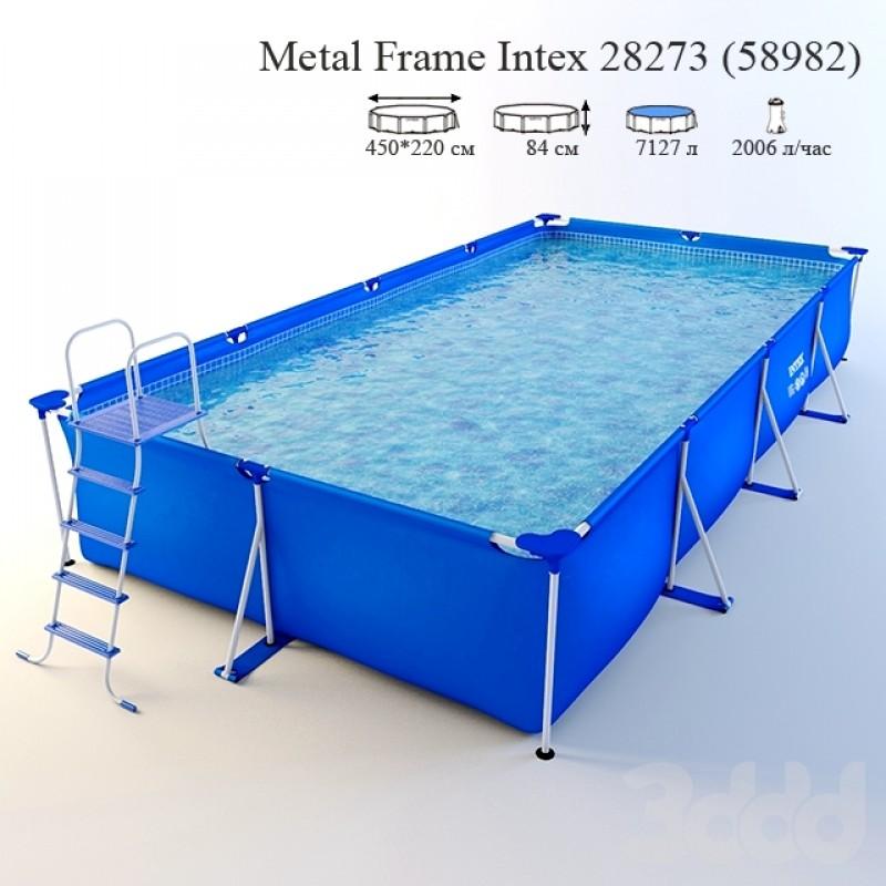 Каркасный бассейн Frame Pool, 450х220х84 см (Intex 28273/58982)
