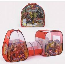 Детская двойная палатка с туннелем, Супергерои (арт. 8015AS)