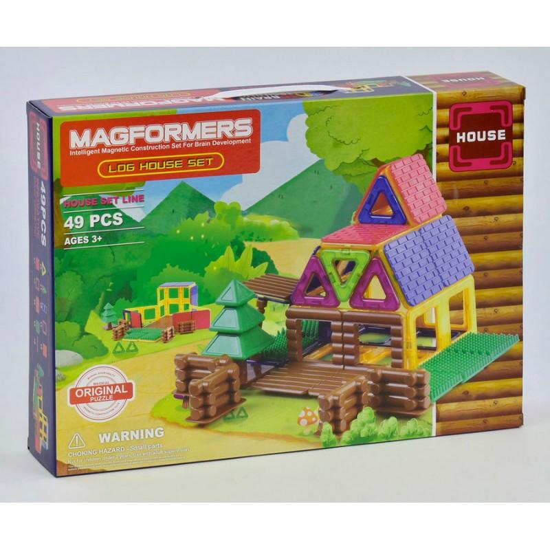 Магнитный конструктор - Домик 49 деталей (Magformers LQ632)