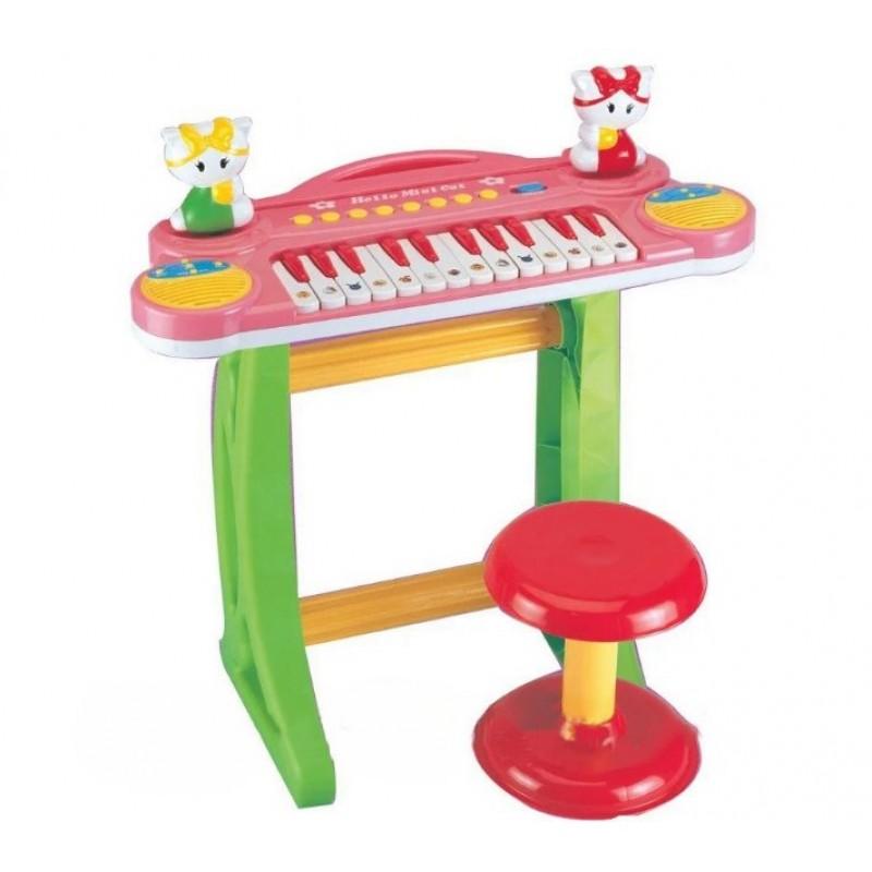 Детское пианино-синтезатор на ножках со стульчиком (арт. 3125)