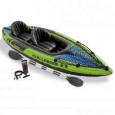 Двухместная надувная лодка/байдарка - Challenger K2 (Intex 68306)