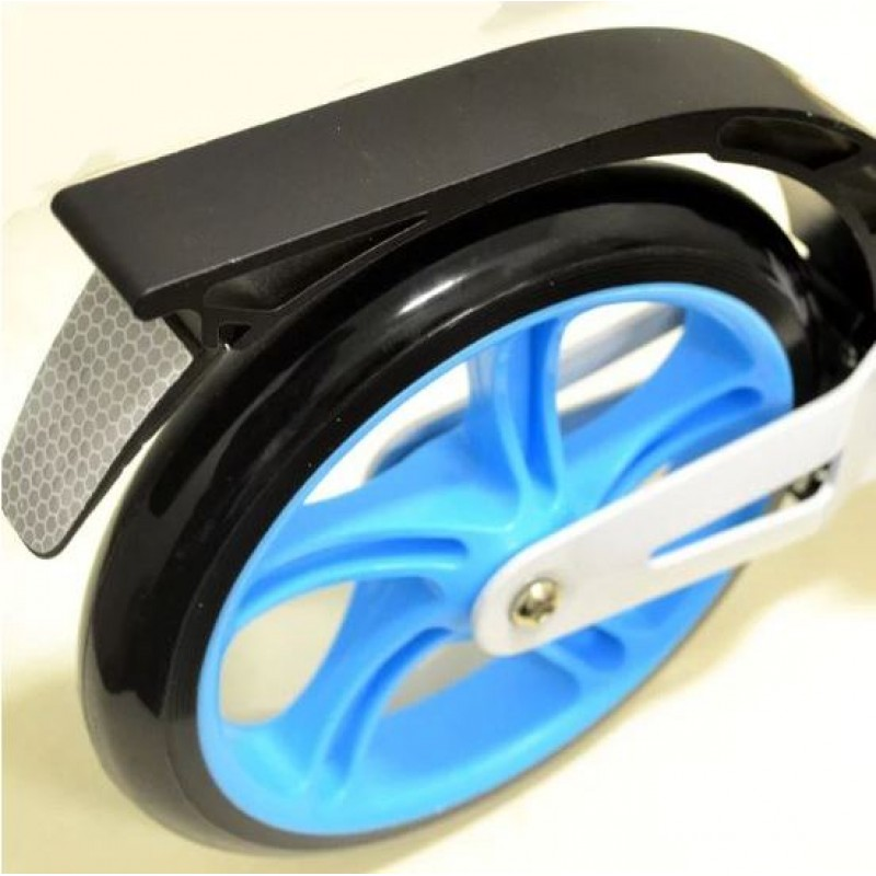 Самокат RiderZ Urban Scooter, ручной тормоз, Голубой (iTrike SR2-018-1)