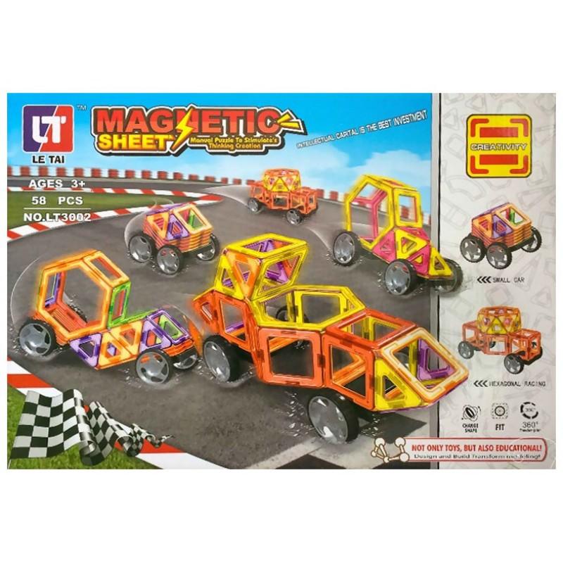 Магнитный 3D конструктор Magnetic Sheet - аналог Magformers (арт. LT3002)