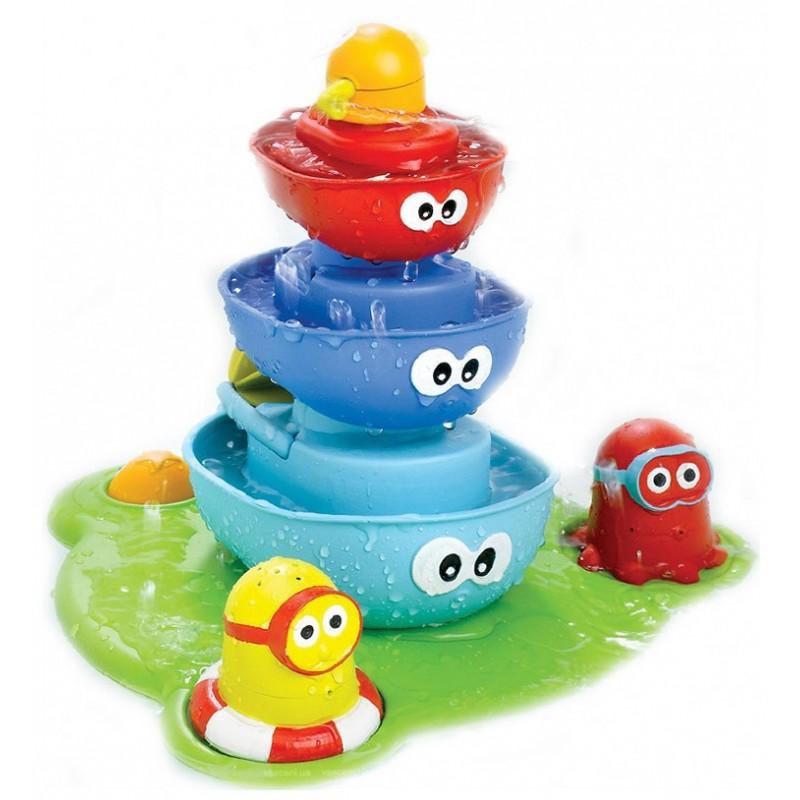 Игрушка для ванной Водопад  кораблики - пирамидка (Yoоkidoo D40115)