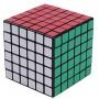 Кубик Рубика 6х6х6 - белый/черный пластик, наклейки (QIYI Cube EQY537)