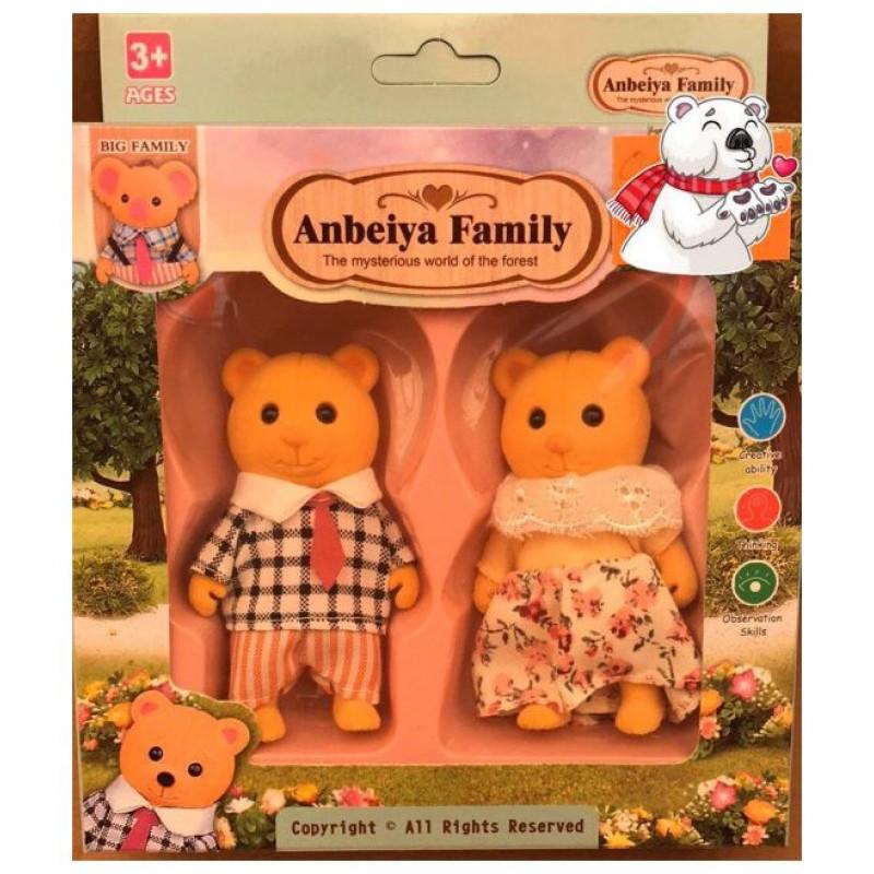 Игровой набор флоксовых животных Anbeiya Family, Мишки (BK Toys Ltd 012-02C)