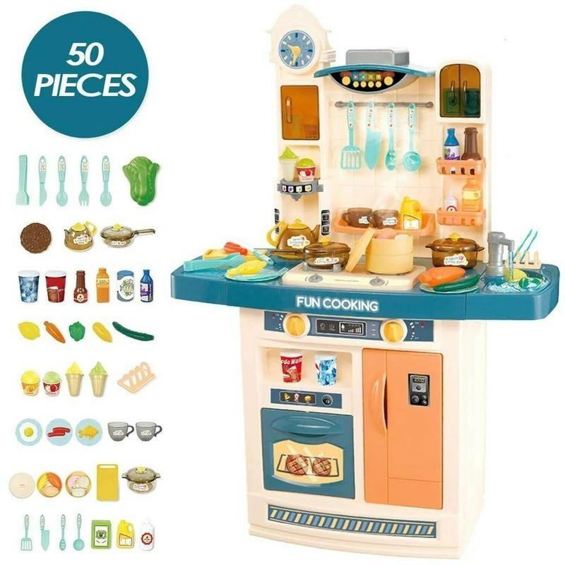Детская игровая кухня с водой и паром, 100 см (арт. 998A)