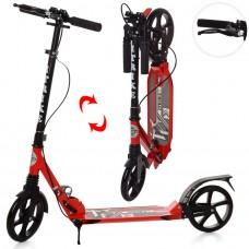 Самокат RiderZ Urban Scooter, ручной тормоз, Красный (iTrike SR2-018-1-R)