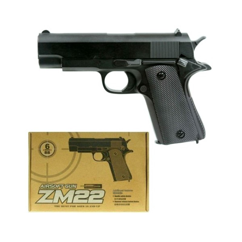 Игрушечный пистолет «Colt M1911», металл/пластик (CYMA ZM22)