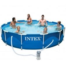 Бассейн каркасный круглый с фильтром, сеть 220 B (Intex 28212)
