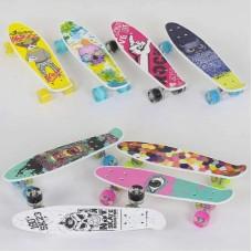 Скейт Пенни Борд с принтом, PU светящиеся колеса (Best Board S29661)