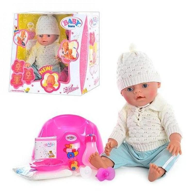 Кукла Baby Born с аксессуарами, аналог (BB8001 E)