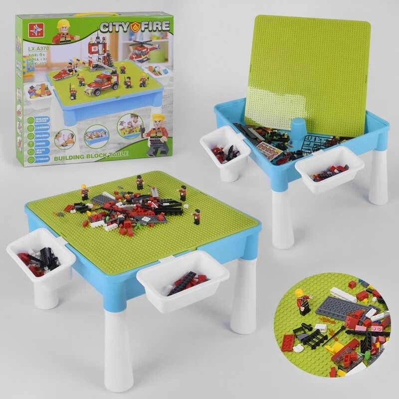 Игровой столик-песочница с конструктором, 407 дет (арт. LX.A370)