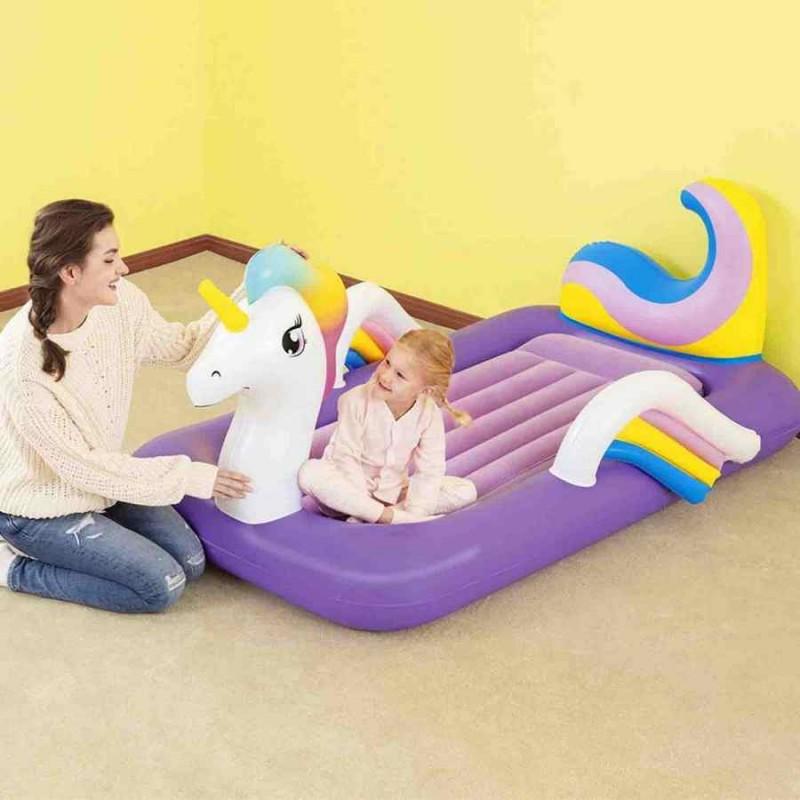 Надувная односпальная кровать - Единорог (Bestway 67713)