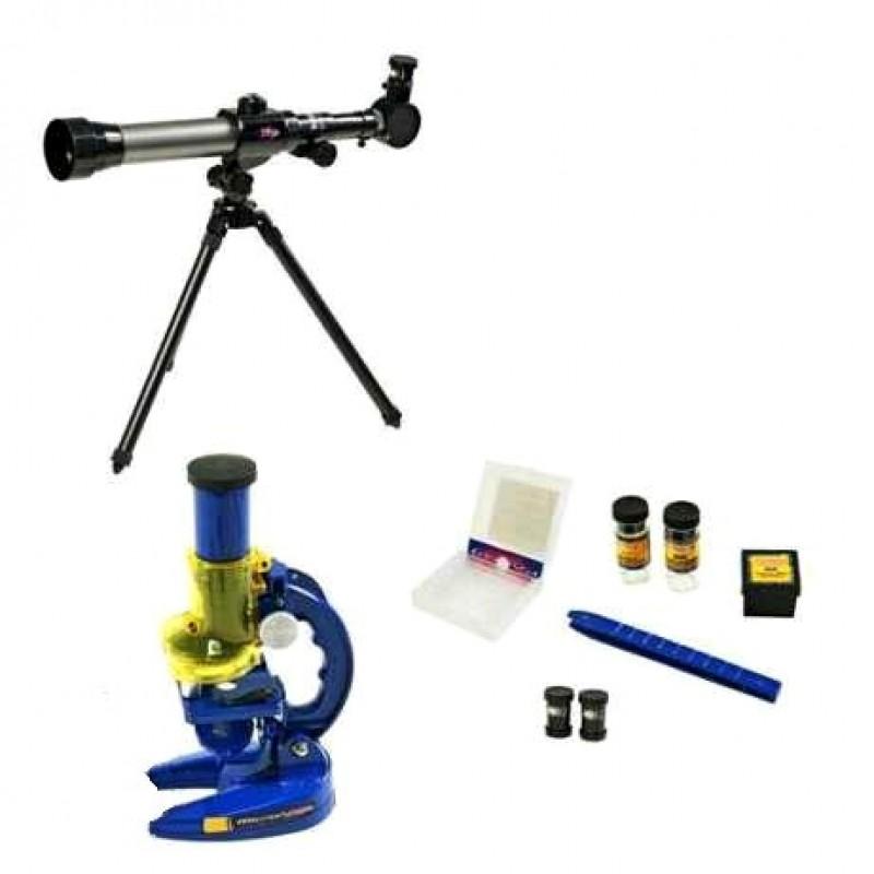 Детский научный набор - Телескоп + микроскоп (арт. C2112)