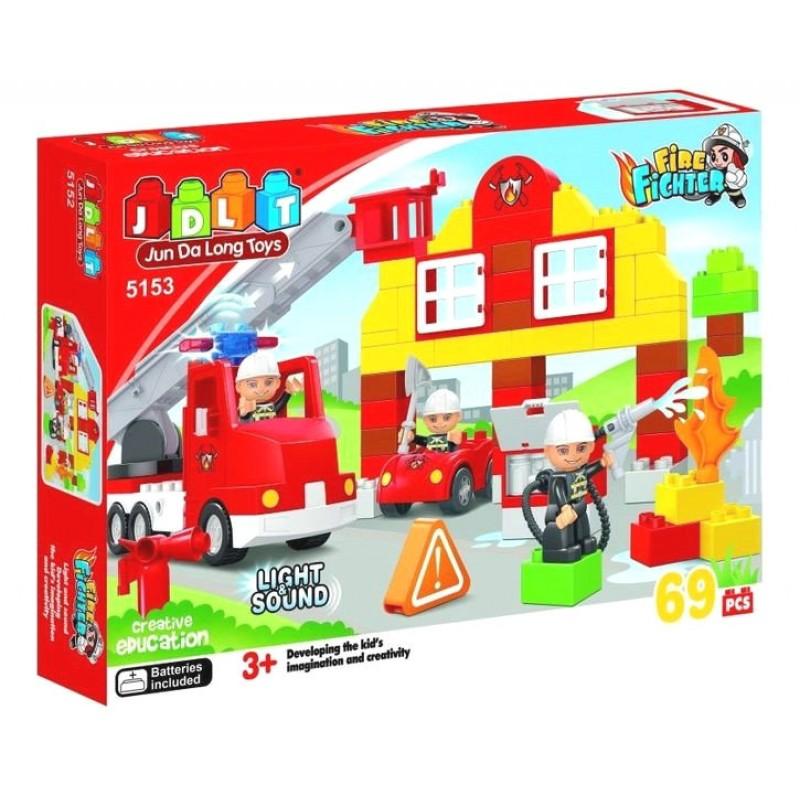Конструктор - Пожарная станция (JDLT 5153)