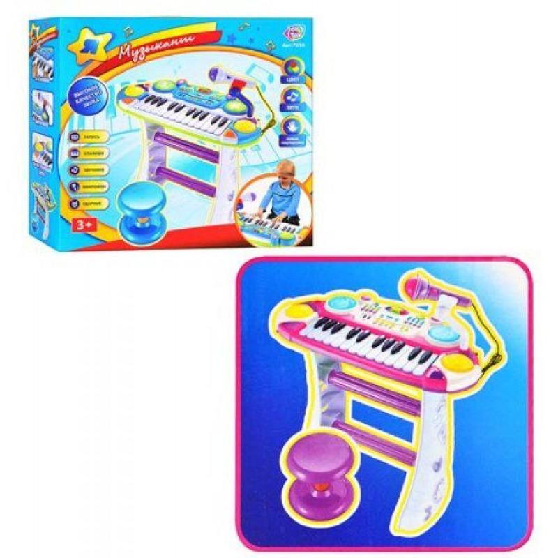Детское пианино-синтезатор - Музыкант, Розовое (Joy Toy 7235)