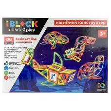 Конструктор магнитный - Морские животный, 88 деталей (IBLOCK PL-920-07)