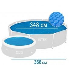 Тент для бассейна 366 см, с эффектом антиохлаждения (Iintex 29022)