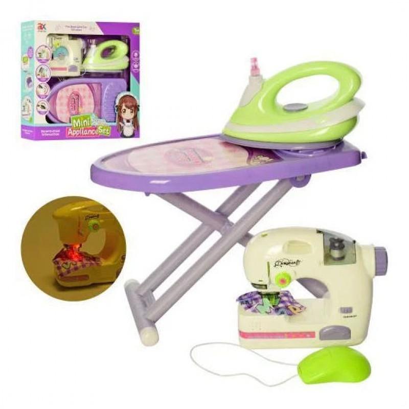 Набор бытовой техники, швейная машина, утюг и гладильная доска (арт. 6703B)