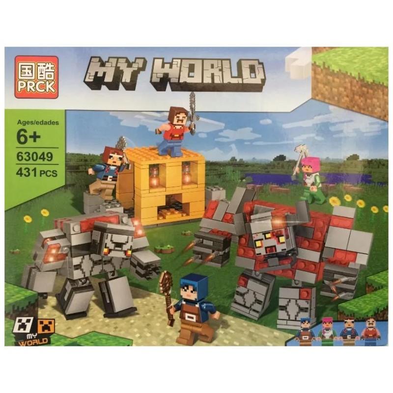 """Конструктор """"My world - Minecraft - Битва с красным монстром и Големом"""" (PRCK 63049)"""