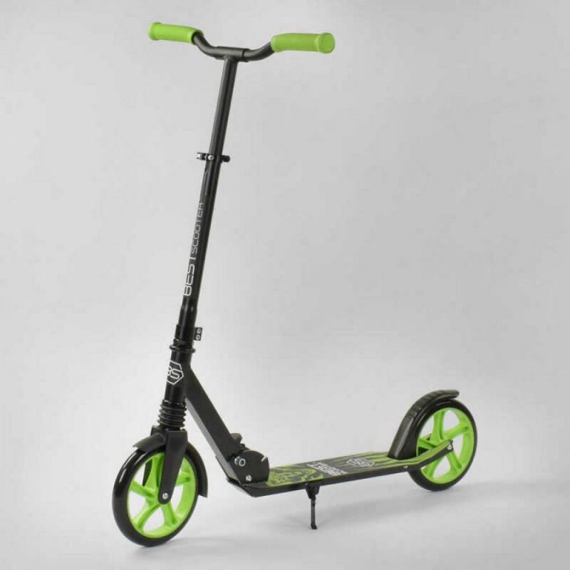 Двухколесный самокат, Зеленый (Best Scooter 21478)