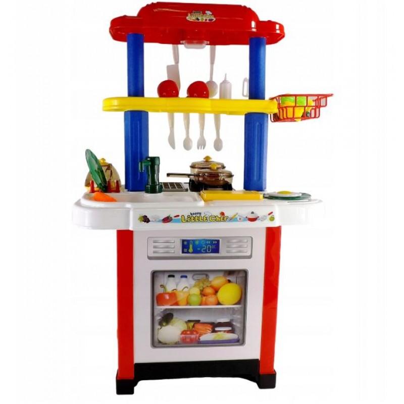 Кухня детская с водой, светом и звуком, Красная (арт. 768A)
