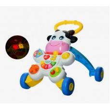 Игровой центр, каталка-ходунки Коровка (Baby Walker WD3783)
