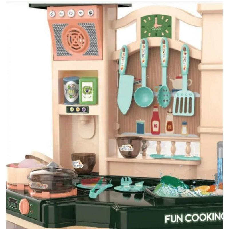 Кухня детская с водой, паром, светом и звуком, Dark Green (арт. 848A)
