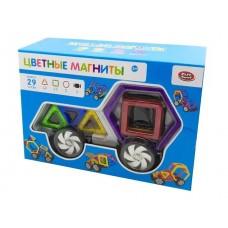 Магнитный конструктор - Цветные магниты 29 деталей (Play Smart 2433)
