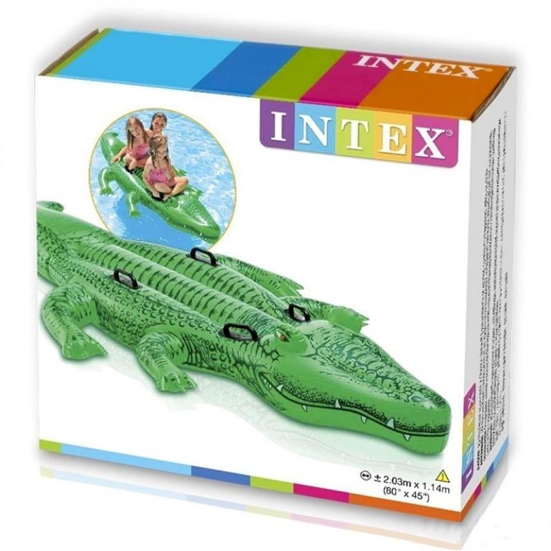"Надувной плотик ""Крокодил"", 203 х 114 см (Intex 58562)"