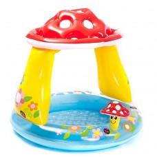 Детский надувной бассейн с навесом - Грибочек (Intex 57114)