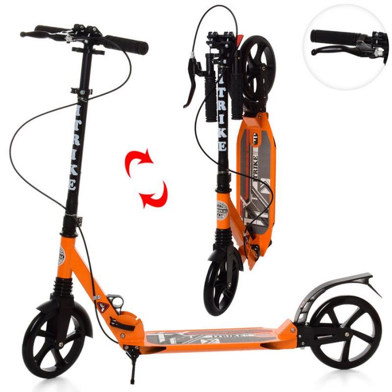 Самокат RiderZ Urban Scooter, ручной тормоз, Оранжевый (iTrike SR2-018-1-OR)