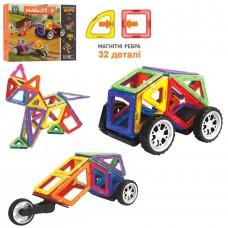 Конструктор магнитный Транспорт, 32 детали (LImo Toy LT3006)