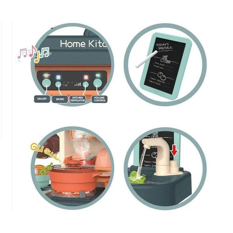 Детская игровая кухня 72 см. с водой и паром (арт. 889-183)