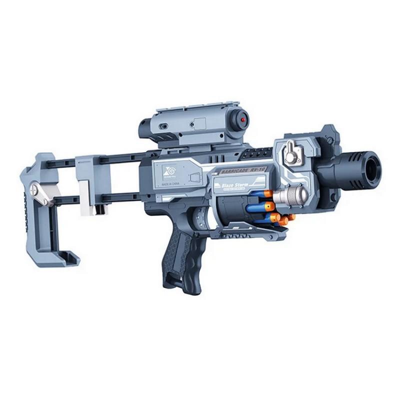 Автомат - бластер Blaze Storm с мягкими пулями, лазерный прицел (арт. ZC7083)