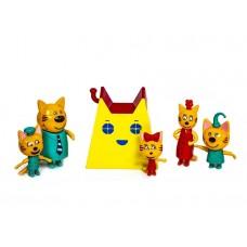 Игровой набор с фигурками - Три кота - Домик с ушками (арт. PS657)