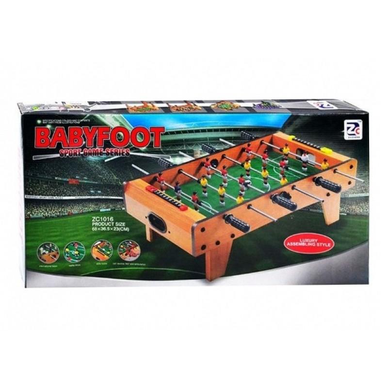 Настольная игра - Футбол на штангах деревянный (ZC1016A)