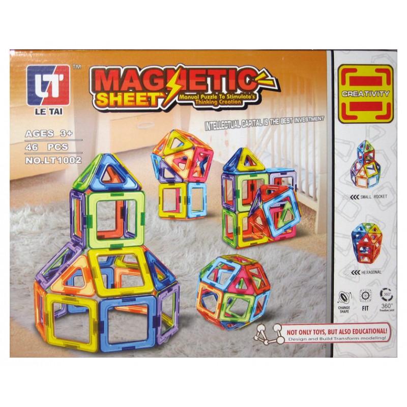 Конструктор магнитный Magnetic Sheet, 46 дет (MagKiss LT1002)