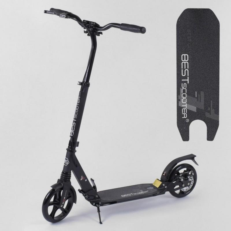 Двухколесный самокат, ручной дисковый тормоз, Черный (Best Scooter 83716)