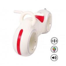Беговел - Космо-Байк с динамиками, Bluetooth и LED-подсветкой, White/Red (Tilly GS-0020)