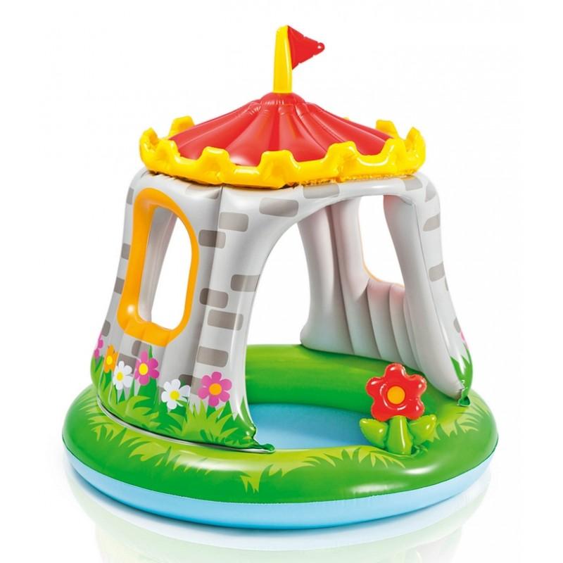 Детский надувной бассейн с навесом - Королевский Замок (Intex 57122)
