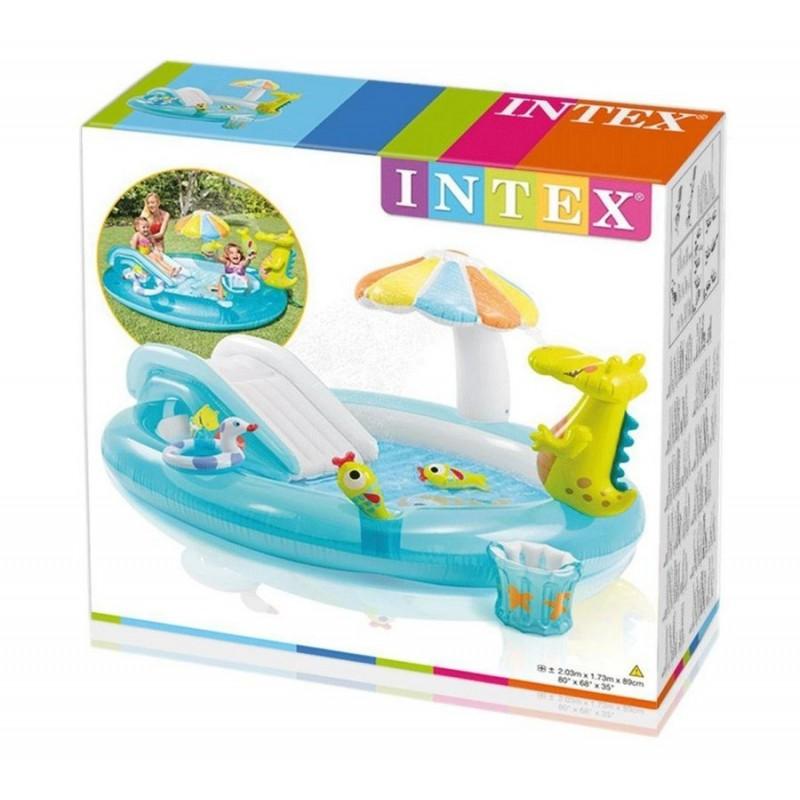 """Детский надувной игровой центр """"Крокодил"""" (Intex 57165)"""