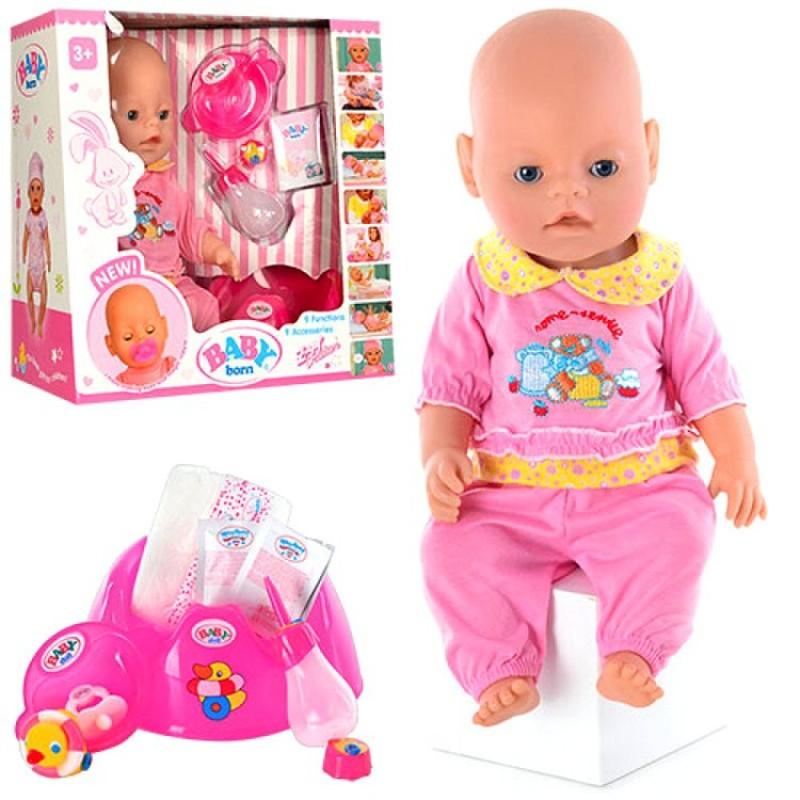 Пупс Baby Born, 9 функций, аналог (арт. BB8001-3)