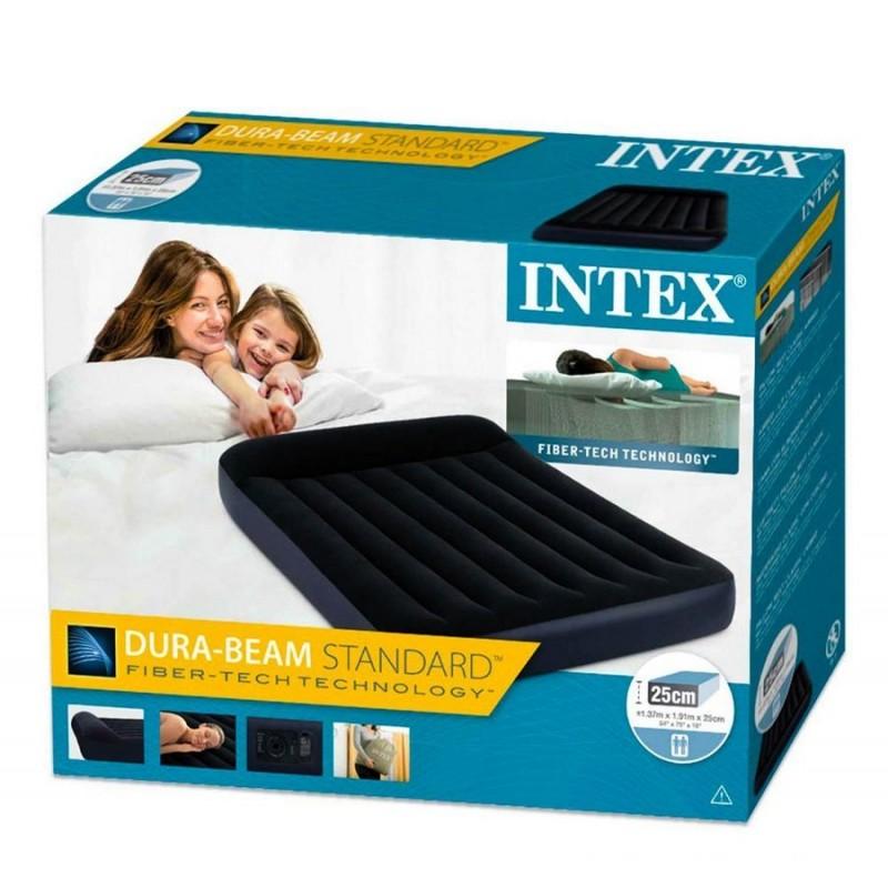 Матрас надувной полуторный с подголовником (Intex 64148)